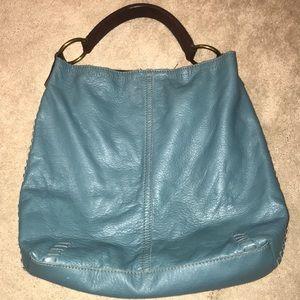 Lucky brand whipstich hobo aquamarine purse
